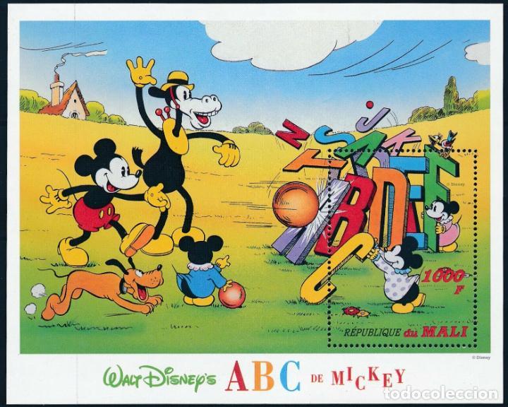MALI 1996 HB IVERT 49C *** DIBUJOS DE WALT DISNEY - EL ABC DE MICKEY (II) - INFANTIL (Sellos - Temáticas - Infantil)