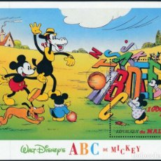 Sellos: MALI 1996 HB IVERT 49C *** DIBUJOS DE WALT DISNEY - EL ABC DE MICKEY (II) - INFANTIL. Lote 269102088