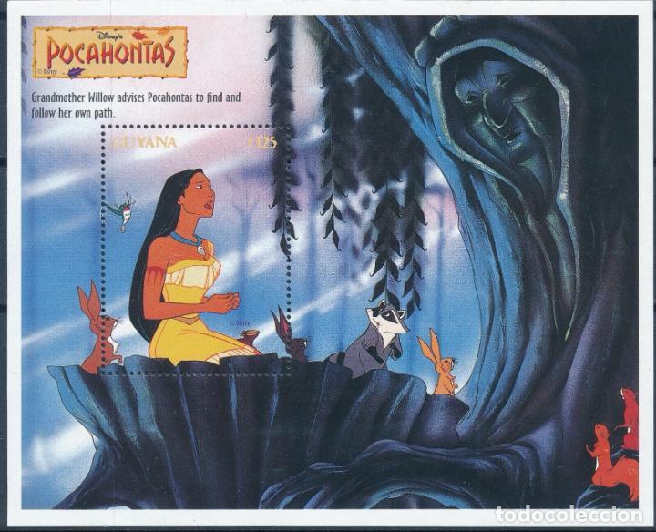 GUYANA 1995 HB IVERT 210 *** DIBUJOS ANIMADOS DE LA PRODUCCIÓN WALT DISNEY - POCAHONTAS (II) (Sellos - Temáticas - Infantil)