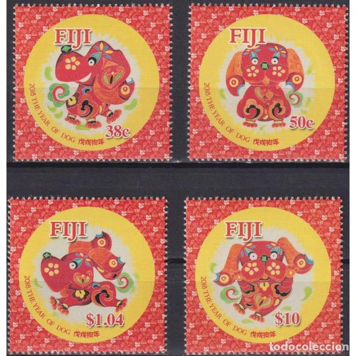 ⚡ DISCOUNT FIJI 2018 CHINESE NEW YEAR - YEAR OF THE DOG MNH - NEW YEAR, DOGS, TOYS (Sellos - Temáticas - Infantil)