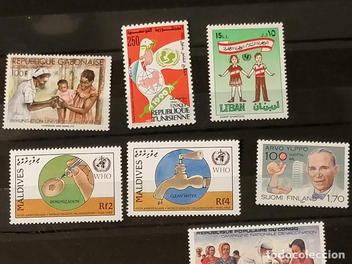 Sellos: Medicina Unicef Hospital Lote sellos resto coleccion en nuevo *** MNH - Foto 2 - 270876343