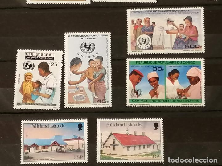 Sellos: Medicina Unicef Hospital Lote sellos resto coleccion en nuevo *** MNH - Foto 3 - 270876343