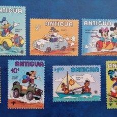 Timbres: ANTIGUA 1979 DISNEY AÑO INTERNACIONAL DEL NIÑO SERIE COMPLETA YVERT 563/571 - NUEVA MNH. Lote 271955043