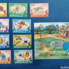 Timbres: ANGUILA ANGUILLA 1982 DISNEY MUNDIAL DE FÚTBOL ESPAÑA 82 SERIE COMPLETA YVERT 456/464 + HB 45. Lote 271955608