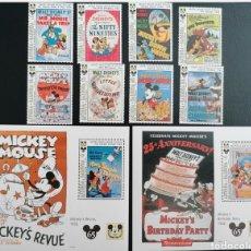 Timbres: ANTIGUA Y BARBUDA 1993 DISNEY 65 ANIVERSARIO DE MICKEY MOUSE YVERT 1637/1 + 1651/4 + HB 275 + HB 278. Lote 272058558