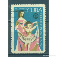 Sellos: ⚡ DISCOUNT CUBA 1971 THE 10TH ANNIVERSARY OF THE CUBAN INFANT CENTRES U - CHILDREN. Lote 274693848