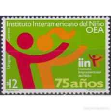 Sellos: ⚡ DISCOUNT URUGUAY 2002 THE 75TH ANNIVERSARY OF THE INTER-AMERICAN CHILDREN'S INSTITUTE MNH. Lote 274791508