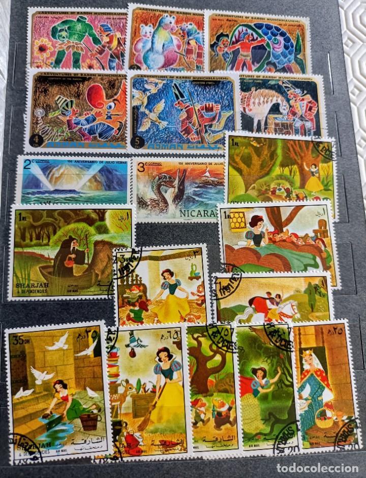Sellos: Lote de 100 sellos usados de temática infantil - Foto 4 - 283018318