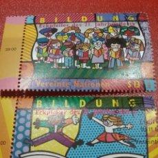Sellos: SELLO NACIONES UNIDAS (VIENA) MTDO/1999/EDUCACIÓN/INFANCIA/NIÑOS/LIBROS/CULRTURA/ARTE/RAZAS/GENTE. Lote 287944643