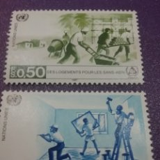 Sellos: SELLO NACIONES UNIDAS (GINEBRA) NUEVOS/1987/AÑO/INTER/SIN/TECHO/ALDEA/CASAS/GENTE/FAMILIA/INFANCIA. Lote 288536068
