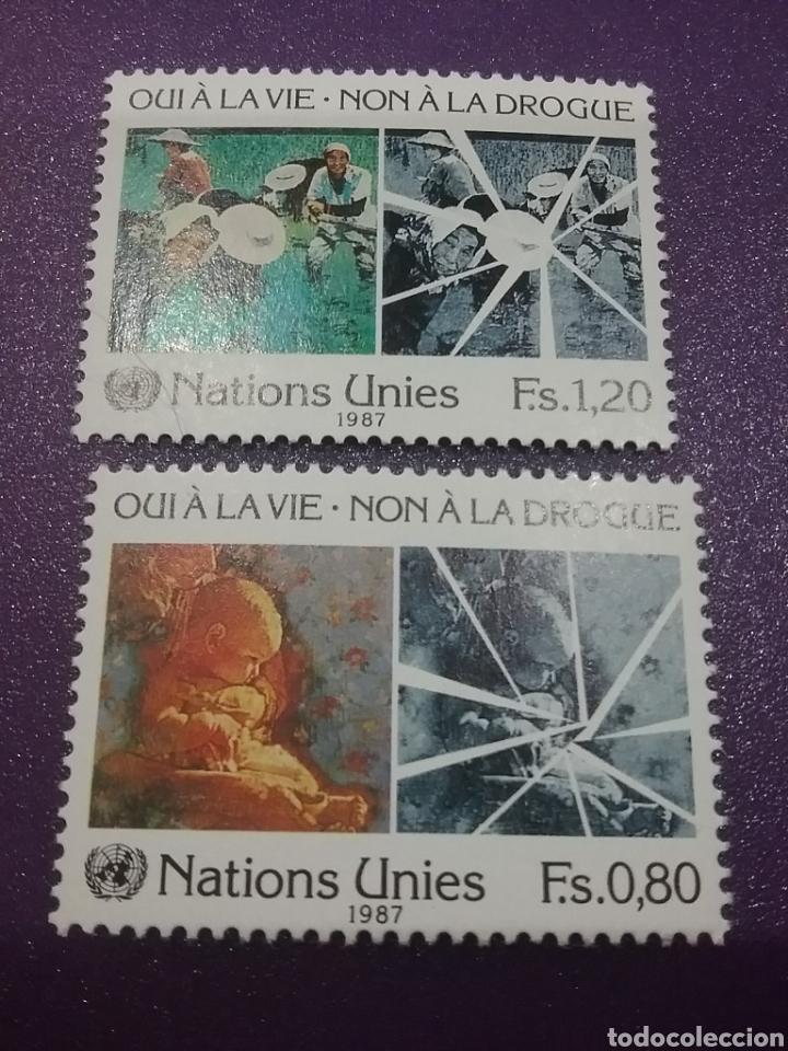 SELLO NACIONES UNIDAS (VIENA) NUEVOS/1987/LUCHA/CONTRA/DROGA/INFANCIA/ANCIANOS/NIÑO// (Sellos - Temáticas - Infantil)