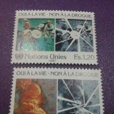 Sellos: SELLO NACIONES UNIDAS (VIENA) NUEVOS/1987/LUCHA/CONTRA/DROGA/INFANCIA/ANCIANOS/NIÑO//. Lote 288537008