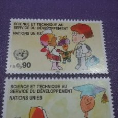 Sellos: SELLO NACIONES UNIDAS (GINEBRA) NUEVOS/1992/CIENCIA/TECNOLOGIA/ORDENADOR/PROFESOR/MEDICO/ARTE/SALUD/. Lote 288971928