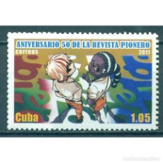 Sellos: ⚡ DISCOUNT CUBA 2011 THE 50TH ANNIVERSARY OF THE PIONERE MAGAZINE MNH - JOURNALISTS, CHILDRE. Lote 289927433