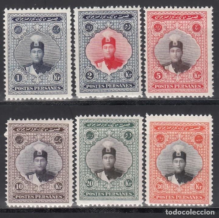 PERSIA, IRAN, 1924-25 YVERT Nº 466, 467, 469, 470, 471, 472, /**/, AHMAD SHAH QAJAR (Sellos - Extranjero - Asia - Irán)