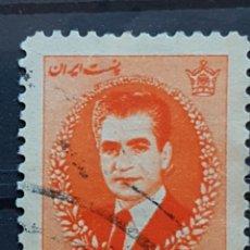 Sellos: IRAN_SELLO USADO_SHAH RUINAS PERSEPOLIS 1RIAL_YT-IR 1158 AÑO 1966 LOTE 6668. Lote 194127056