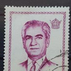 Sellos: IRAN_SELLO USADO_SHAH PAHLAVI 10 RIAL PURPURA_YT-IR 1408 AÑO 1971 LOTE 6699. Lote 194127666