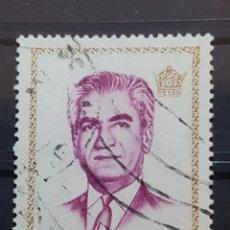 Sellos: IRAN_SELLO USADO_SHAH PAHLAVI 10 RIAL DORADO PURPURA_YT-IR 1478 AÑO 1972 LOTE 6705. Lote 194127885