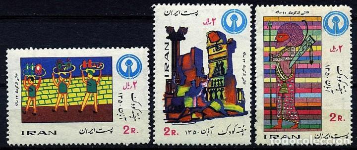 IRAN 1971 - AÑO INTERNACIONAL DEL NIÑO - YVERT Nº 1397/1399** (Sellos - Extranjero - Asia - Irán)