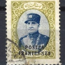 Sellos: IRÁN 1935 - REZA SHAH PAHLAVI, SOBREIMPRESO POSTES IRANIENNES - SELLO USADO. Lote 210624136