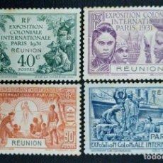 Sellos: SELLO POSTAL DE FRANCIA - REUNIÓN 1931, EXPOSICIÓN COLONIAL INTERNACIONAL DE PARÍS. Lote 219908940