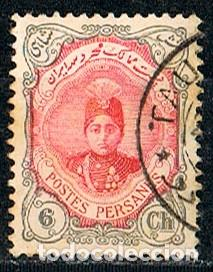IRAN IVERT Nº 306 (AÑO 1911) SHAH AHMAD QAJAR. USADO (Sellos - Extranjero - Asia - Irán)