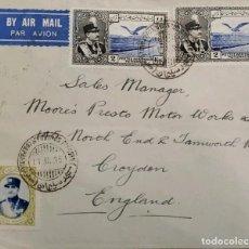 Sellos: O) 1935 IRÁN, ASIA, REZA SHAH PAHLAVI Y EAGLE, CORREO AÉREO CIRCULA A INGLATERRA. Lote 254648760