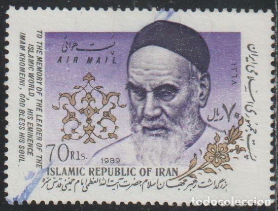 IRAN 1989 SCOTT C100 SELLO º PERSONAJES AYATOLLAH KHOMEINI (1902-1989) MICHEL 2352 YVERT PA97 STAMPS (Sellos - Extranjero - Asia - Irán)