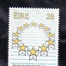 Sellos: IRLANDA 684 SIN CHARNELA, PARLAMENTO EUROPEO, . Lote 7966271