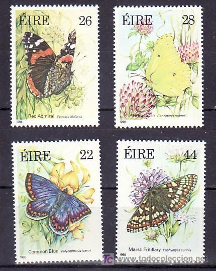 IRLANDA 562/5 SIN CHARNELA, FAUNA, FLORES, MARIPOSAS POSA SOBRE FLOR, (Sellos - Extranjero - Europa - Irlanda)