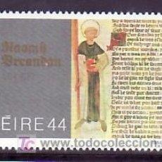 Sellos: IRLANDA 550 SIN CHARNELA, RELIGION, 1500º ANIVERSARIO NACIMIENTO DE SAN BRENDAN,. Lote 278972323