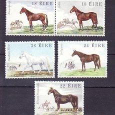 Sellos: IRLANDA 453/7 SIN CHARNELA, FAUNA Y FLORA, CABALLOS,. Lote 210239110