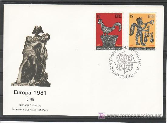 IRLANDA 440/1 PRIMER DIA, TEMA EUROPA 1981, FOLKLORE, (Sellos - Extranjero - Europa - Irlanda)