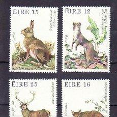 Sellos: IRLANDA 424/7 SIN CHARNELA, FAUNA Y FLORA, ANIMALES SALVAJES. Lote 7968301