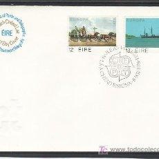 Sellos: IRLANDA 415/6 PRIMER DIA, TEMA EUROPA 1979, HISTORIA DEL SERVICIO DE CORREO, BARCO, . Lote 11647093