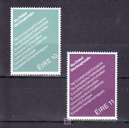 IRLANDA 396/7 SIN CHARNELA, PRIMERAS ELECCIONES DIRECTAS AL PARLAMENTO EUROPEO, (Sellos - Extranjero - Europa - Irlanda)