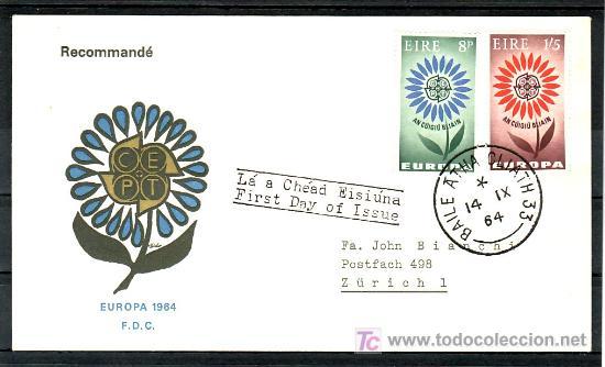 IRLANDA 167/8 PRIMER DIA, TEMA EUROPA 1964, (Sellos - Extranjero - Europa - Irlanda)