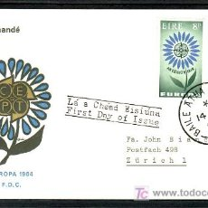 Sellos: IRLANDA 167/8 PRIMER DIA, TEMA EUROPA 1964, . Lote 11720315