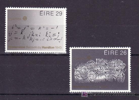 IRLANDA 504/5 SIN CHARNELA, TEMA EUROPA 1983, GRANDES OBRAS DE LA HUMANIDAD, (Sellos - Extranjero - Europa - Irlanda)