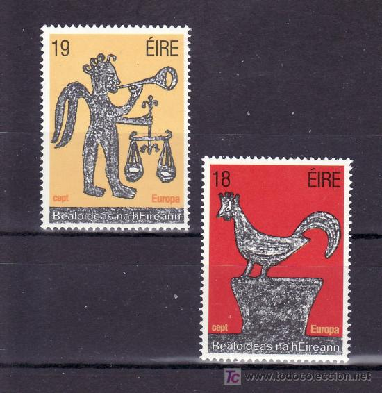 IRLANDA 440/1 SIN CHARNELA, TEMA EUROPA 1981, FOLKLORE, (Sellos - Extranjero - Europa - Irlanda)