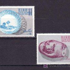 Sellos: IRLANDA 346/7 SIN CHARNELA, TEMA EUROPA 1976, ARTESANIA, PORCELANA, . Lote 10572684