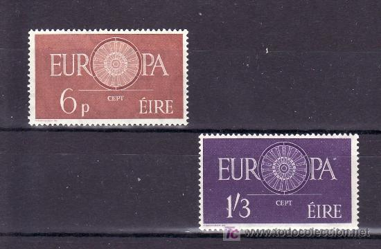 IRLANDA 146/7 SIN CHARNELA, TEMA EUROPA 1960, (Sellos - Extranjero - Europa - Irlanda)