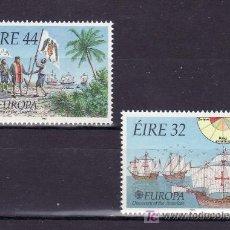 Sellos: IRLANDA 795/6 SIN CHARNELA, TEMA EUROPA 1992, V CENTENARIO DESCUBRIMIENTO AMERICA, BARCO. Lote 10572112