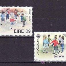 Sellos: IRLANDA 682/3 SIN CHARNELA, TEMA EUROPA 1989, JUEGOS INFANTILES, . Lote 10572149