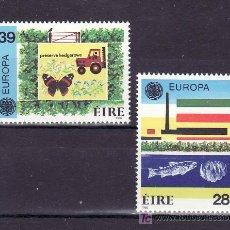 Sellos: IRLANDA 592/3 SIN CHARNELA, TEMA EUROPA 1986, PROTECCION NATURALEZA Y MEDIO AMBIENTE, FAUNA, PECES,. Lote 11691566