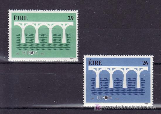 IRLANDA 541/2 SIN CHARNELA, TEMA EUROPA 1984, 25º ANIVERSARIO CONFERENCIA EUROPEA, (Sellos - Extranjero - Europa - Irlanda)