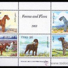 Sellos: IRLANDA AÑO 1983 HB 4*** PERROS DE CAZA - FAUNA - FLORA - NATURALEZA. Lote 26416555