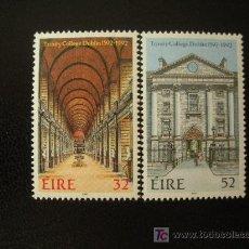 Francobolli: IRLANDA 1992 YVERT 805 *** 400º ANIVERSARIO DE LA FUNDACION DE TRINITY COLLEGE DE DUBLIN. Lote 15971888
