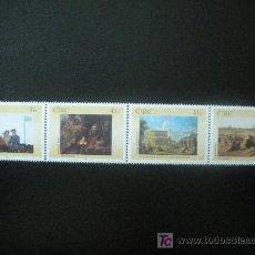 Sellos: IRLANDA 2002 IVERT 1458/61 *** GALERIA NACIONAL DE IRLANDA (I) - PINTURA. Lote 16586217