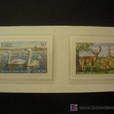 Sellos: IRLANDA 1999 IVERT 1145/6 *** EUROPA - RESERVAS Y PARQUES NATURALES - FAUNA. Lote 17122285